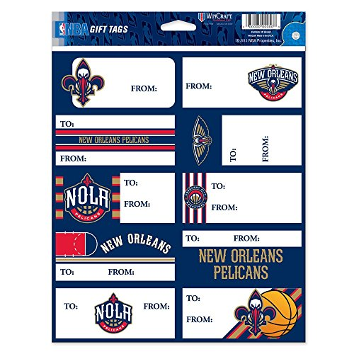 New Orleans Pelicans Official NBA 8.5 inch x 11 inch Gift Tag Stickers by Wincraft
