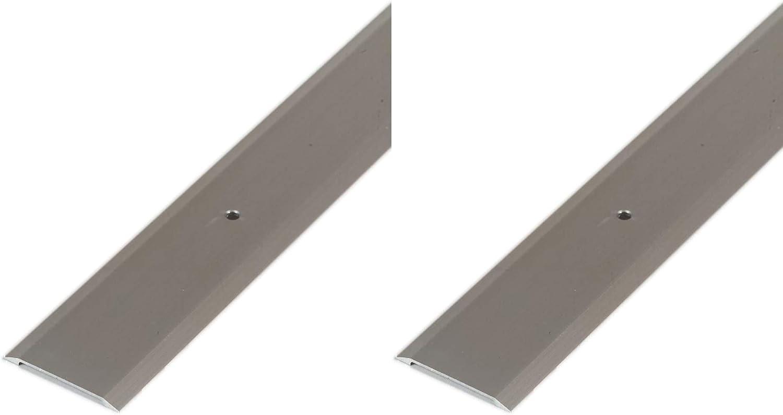 x 1-3//4 W x M-D Building Products 49010 M-D Premium Flat Saddle Threshold Satin Nickel 36 in L X 1-3//4 in W X 1//8 in H Aluminum