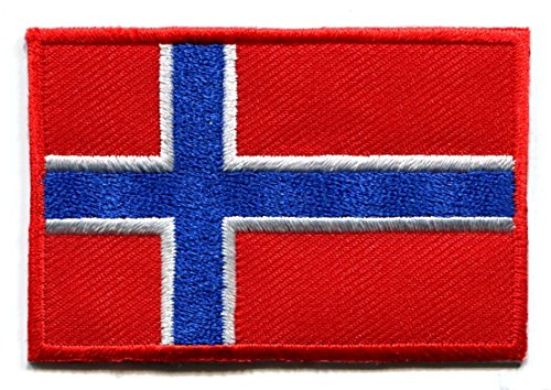 Patch Flag Norway (Flag of Norway Norwegian Europe applique iron-on patch new size Medium)