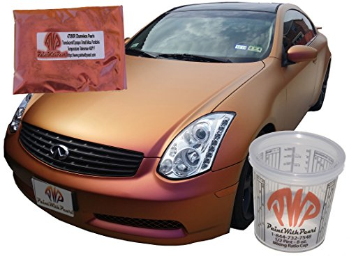 25g Gold Orange Red Chameleon Paint Powder, a ColorShift Paint Pigment. Non Toxic Dry Powder for custom paint, powder coat, endless coatings. Use for a noticeable gold orange red color shift. ()