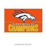 WinCraft Denver Broncos Official NFL 3' x 5' Super Bowl 50 Champions Banner Flag by 450869