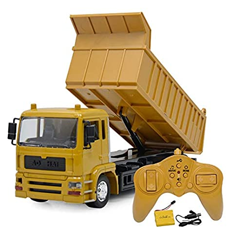 Big Dump Trucks >> Amazon Com Nesee Big Dump Truck Toy For Kids Solid Plastic Heavy