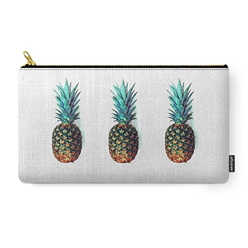 Society6 Tri Soldier Pineapples Carry-All Pouch Medium