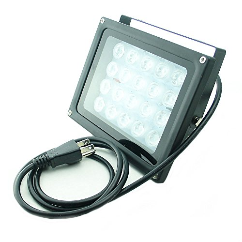 QUANS 110V 20W UV Ultra Violet High Power LED Light for Curing Glue Blacklight Fishing Aquarium with US Plug