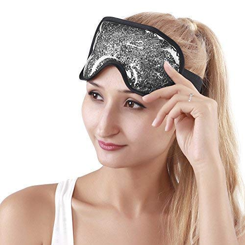 Gel Eye Mask Eye Cooling Mask for Puffy Eyes, Soft Eye Ice Pack Reusable Cold Eye Mask with Plush for Dry Eyes, Swollen Eyes - ()