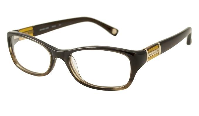 60ff63e7d5b7 Amazon.com: Michael Kors Mk252 Eyeglasses 204 Brown Gradient 50 16 130:  Clothing