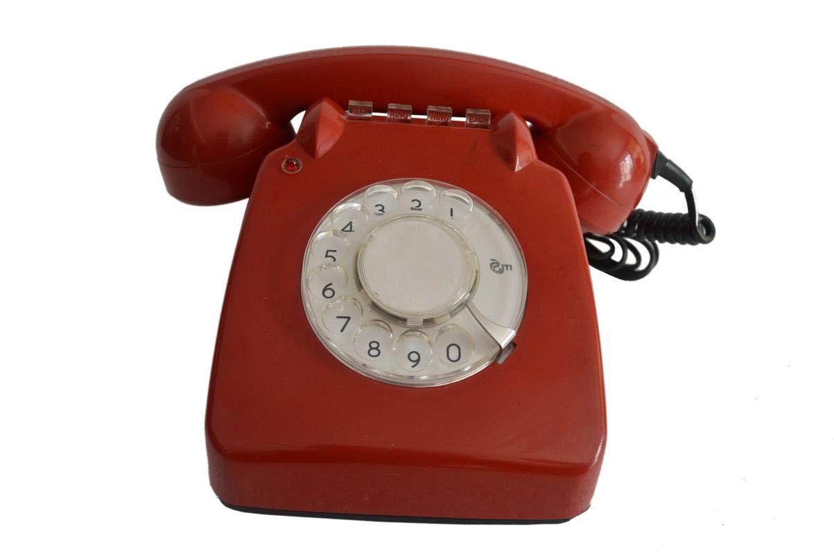 Shri Surya Handicrafts Original 1980's Working Rotary Dial Landline Telephone Home Decor Antique Display Rotary Dial Working Landline Telephone Retro Landline Phone Vintage Telephone