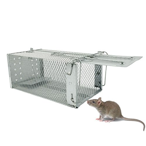 Live Animal Humane Trap Catch and Release Rats Mouse Rodents, Live Cage for Mice Hamster Mole Weasel Gopher Chipmunk Control 27.5x15x12cm (Trap Rat Cage)