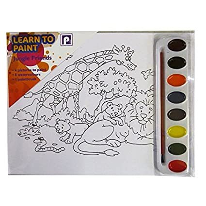 Infantil para aprender a pintar), diseño de animales de la selva ...