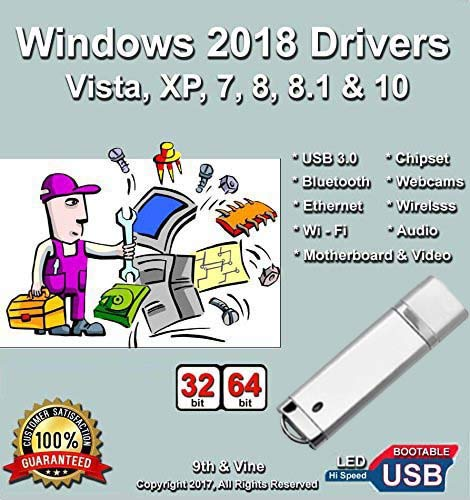 Windows 2018 USB Driver For Windows 10, 8.1, 8, 7, Vista, XP in 32/64 bit For Most PCs/Laptops Acer, Dell, HP, IBM, Gateway, Toshiba, Lenovo, Asus, E-Machines and Much More ()