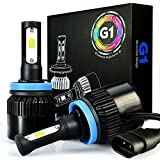 xenon headlight kit - JDM ASTAR G1 8000 Lumens Extremely Bright COB Chips H11 H9 H8 All-in-One LED Headlight Bulbs Conversion Kit, Xenon White