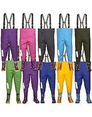 Kinderen Waadpak 3KAMIDO®, tieners kinderlaarzen - 10 modellen, verstelbare taille, slijtvaste bretels, gesp Nexus, visserslaarzen voor kinderen 20-35 EU