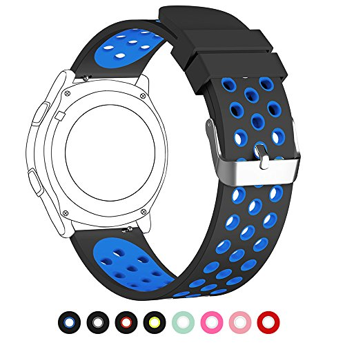 Price comparison product image 18mm 20mm 22mm Universal Watch Bands, FanTEK Soft Silicone Nike Sport Quick Release Watch Strap Wristband for Huawei Watch/ Samsung Gear S3/ Pebble Time/ MOTO 360 2nd Gen Watch