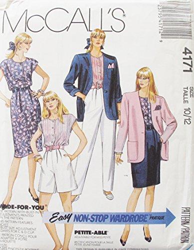 McCall's 4171 Vintage Misses Jacket, Top, Skirt,