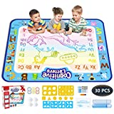 Jasonwell Aqua Magic Doodle Mat 100cm x 80cm Extra Large Water Drawing Doodling Mat Coloring Mat Educational Gifts Toys for Kids Toddlers Boys Girls 2 3 4 5 6 7 Year Old