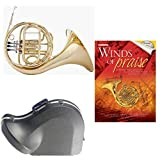 Band Directors Choice Single French Horn in F - Winds of Praise Pack; Includes Student French Horn, Case, Accessories & Winds of Praise Book