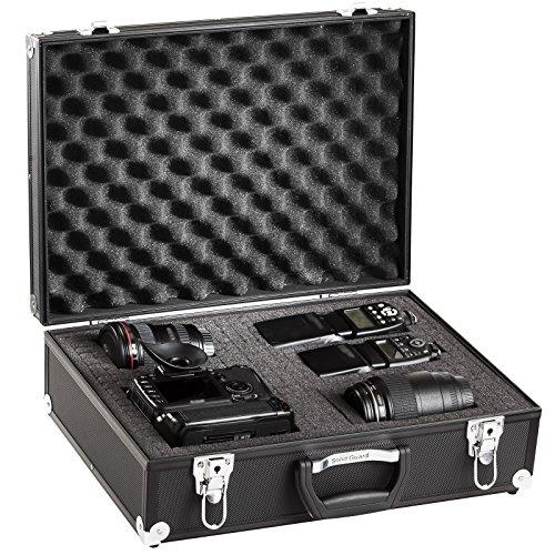 Solidguard by BRUBAKER Alukoffer - Fotokoffer Waffenkoffer Messinstrumentenkoffer mit gestanzten Schaumstoffeinlagen Alu Schwarz