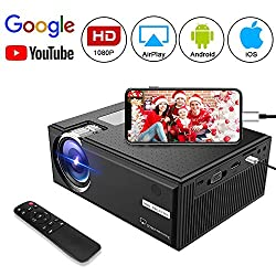 Video Projector Goxmgo Lcd Portable Home Theater Projectors Support 1080p For Ipad Iphone Android Smartphone Home Entertainment Party And Gaming System Upgraded Version