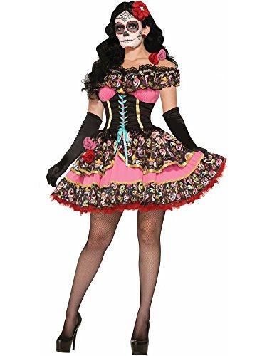 Forum Novelties Women's Day Of Dead Senorita Costume, Multi, Medium/Large -