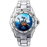 Fashion Men Watch PE20 Pixar Movie Wall-E Poor Face Stainless Steel Wrist Watch