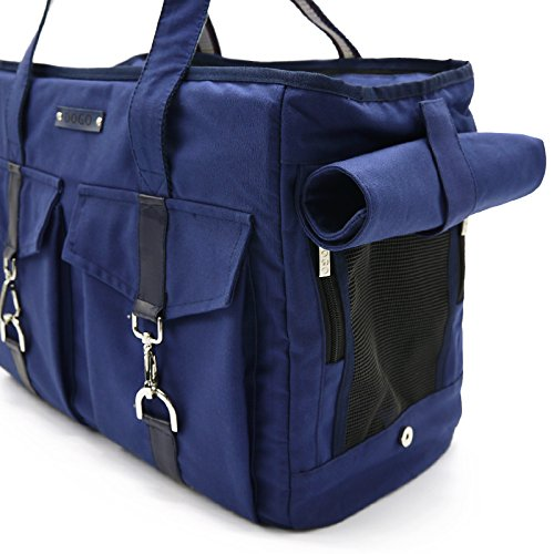 DOGO 100 Buckle Tote Dog Carrier - Navy Blue