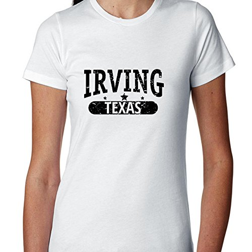 Hollywood Thread Trendy Irving, Texas With Stars Women's Cotton T-Shirt]()