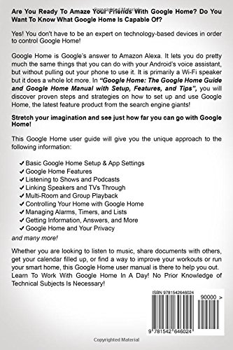 Google Home: The Google Home Guide And Google Home Manual With ...