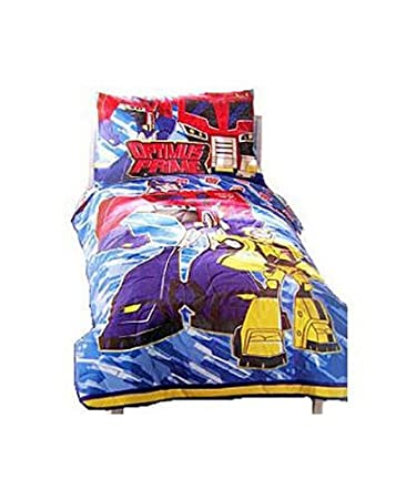 Transformers 4 Pcs Toddler Bedding Set Comforter Sheets Pillowcase