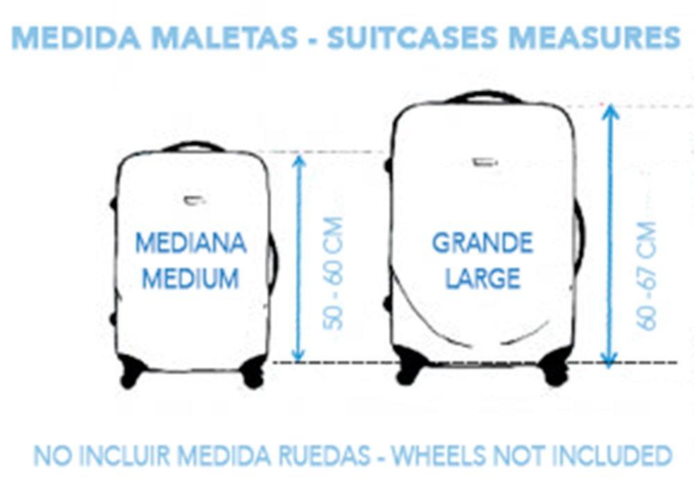 Funda Protectora de Maleta con Ruedas Modelo Mapa Antiguo (Grande - Maletas Entre 60-67 cm): Amazon.es: Equipaje