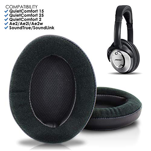 Bose QuietComfort 15 Replacement Ear Pads by Wicked Cushions - Compatible with QC 15 / Quiet Comfort 25 / QC2 / QC35 / Ae2 / Ae2i / Ae2w / SoundTrue/SoundLink (Over-Ear Headphones) | Velour
