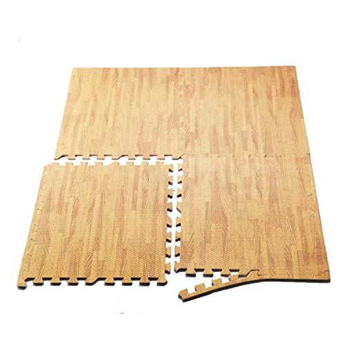 Snow Shop Interlocking EVA Foam Floor Mat Puzzle Tiles Wood Grain Gym Exercise 24 Sq Ft.