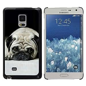 TECHCASE**Cubierta de la caja de protección la piel dura para el ** Samsung Galaxy Mega 5.8 9150 9152 ** Pug Dog Small Shorthair Big Brown Eyes