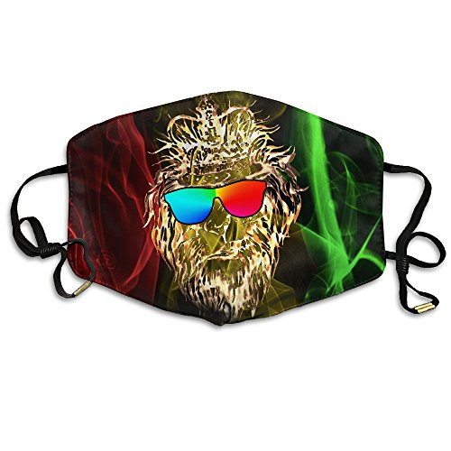 FreeFridayMask Cool Crown Lion Sunglass Unisex Print Durable 100% Polyester respirator Isolation Face Masks For - Bacon Sunglasses