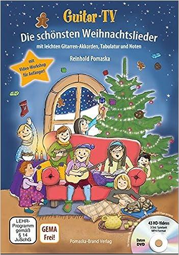 Die Schönsten Weihnachtslieder Zum Ausdrucken.Guitar Tv Die Schönsten Weihnachtslieder Mit Dvd Leichte Gitarren