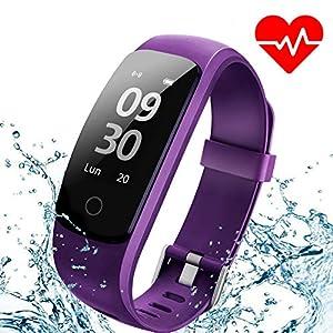 Montre Connectée, ANEKEN Bracelet Connectée Fitness Tracker d'Activité Sport Smart Watch Montre Cardio Sport avec Cardiofréquencemètre Sommeil Podomètre Calories Etanche IP67 Mode Multi-Sport pour iPhone Android