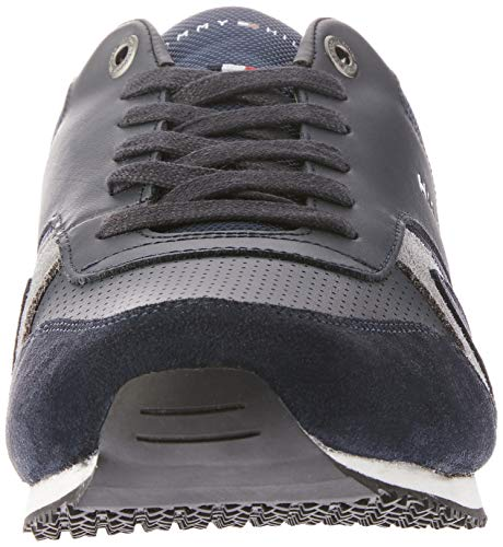 Hilfiger Leather Sneakers Runner Homme Noir Tommy Textile Basses Iconic ZvUwdxqd