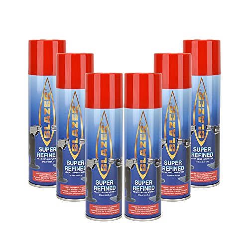 Blazer Butane Refill - 6 canisters by Blazer