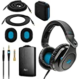 Sennheiser HD8 DJ 3 Wearing Positions Headphone plus Fiio A3 Headphone Amplifier (Black)