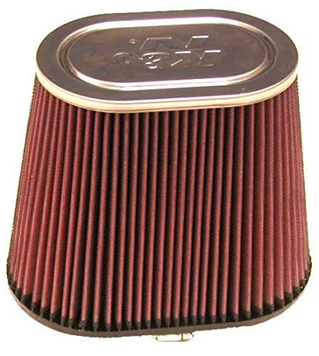 K&N Universal Clamp-On Engine Air Filter: Washable: Oval Straight; 4 in (102 mm) Flange ID; 7.5 in (191 mm) Height; 9 in x 5.75 in (229 mm x 146 mm) Base; 7 in x 4.5 in (178 mm x 114 mm) Top , RF-1040