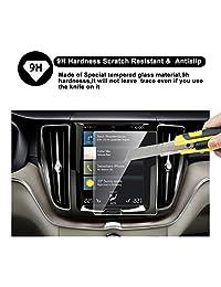 2018 Volvo XC60 Sensus Sistema de navegación Protector de pantalla para la navegación del automóvil, RUIYA HD Clear TEMPERED GLASS Película protectora para tablero de vehículos