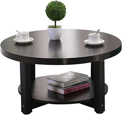 YANG Round Dining Table Eiffel Designer 80cm Small Round with Beech Wood Legs Round Side//Coffee//Dining//End Table