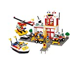Sluban Building and Construction Blocks M38-B3700 Fire Engine Building Block Construction Set (463 Piece)
