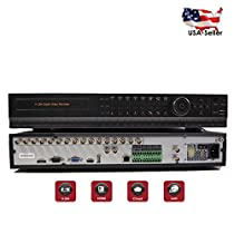 Evertech HD 1080N 16 Channel 4in1 AHD/ CVI/ TVI Analog High Definition HDMI Cluod Security Camera DVR System with Alarm