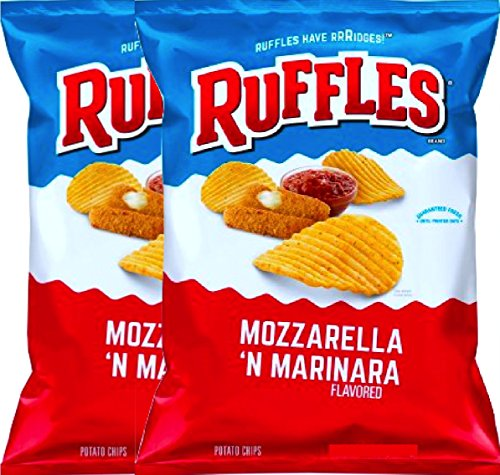 NEW Ruffles Mozzarella & Marinara Flavored Potato Chips, 2.62 oz Bag (2) ()