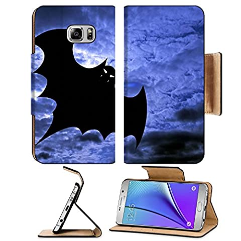Liili Premium Samsung Galaxy Note 5 Flip Pu Leather Wallet Case Halloween background flying batBatdracula Note5 IMAGE ID 2954333