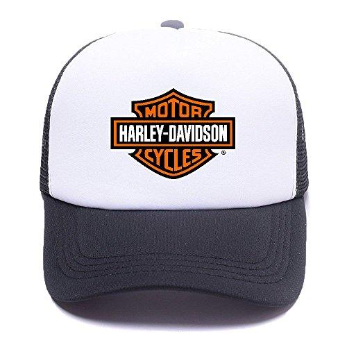 Harley D Black Baseball Caps Gorras de béisbol Trucker Hat Mesh Cap For Men Women Boy Girl 006 Black