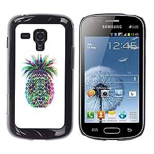 Caucho caso de Shell duro de la cubierta de accesorios de protección BY RAYDREAMMM - Samsung Galaxy S Duos S7562 - Colorful Art Drawing Food