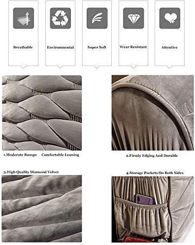 ZXLRH Housse De Tête De Lit Coussins De Lecture Couverture De Tête De Lit Protecteur Chevet Housse Anti-poussière,220*(8-30)*58cm-Gray