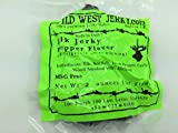 #1 BEST Premium 100% Natural Grass Fed Hand Stripped 2 OZ. Thick Cut Delicious Tasty Bold Flavor Elk Jerky from Utah USA - Wood smoked With Hickory Wood by Wild West Jerky (Pepper 1 Pack)