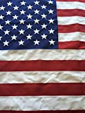 Best Commercial Grade Polyester American Flag 8'x12' US Flag Made in the USA Embroidered Stars Sewn Stripes by Flags Poles And More,Red, White, and Blue